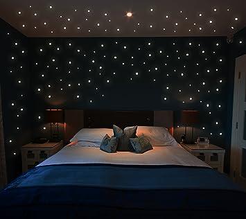 Leuchtende Wandtattoos leuchtsterne wandtattoo sterne 355 stk fluoreszierend leuchtende