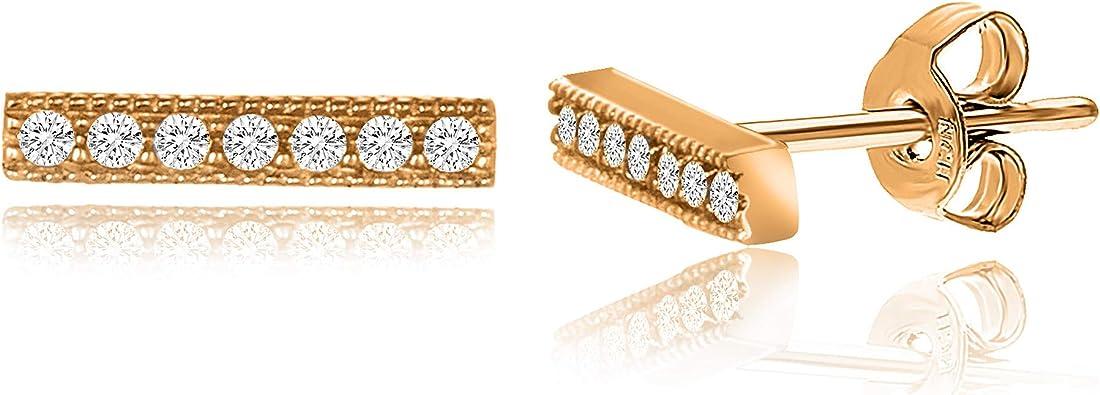 Mia Diamonds 14k Yellow Gold Onyx with U Threader Earrings