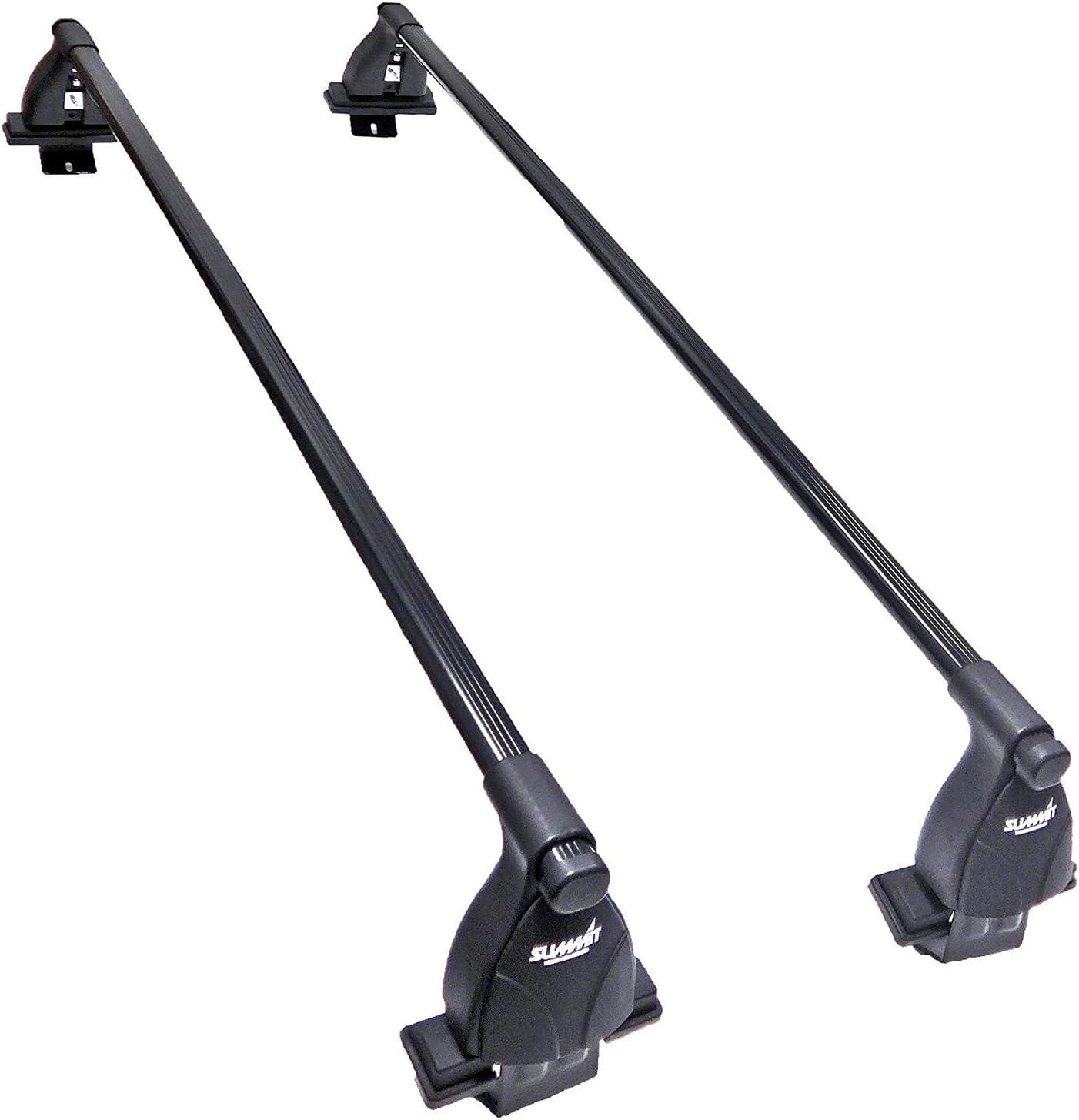 Set of 2 Black Steel Summit SUP-033 Premium Multi Fit Roof Bars