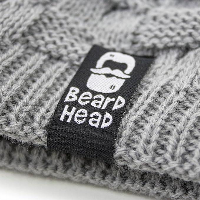 fc9d4e429f5 Amazon.com  Beard Head - The Original Curly Beckett Knit Beard Beanie (Black)   Clothing