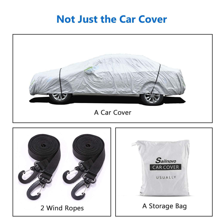 Cubierta para Coche para SUV Exterior Ajuste Universal Impermeable Funda para Coche Anti-UV Transpirable Resistente a Lluvia//Nieve//Polvo 480x180x120cm/_3
