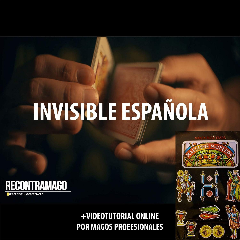 RecontraMago Trucos de Magia - Única Baraja Española Svengali - Cartas Alto Gramaje 330gr - Incluye VideoTutorial Online +1 Hora por Magos ...
