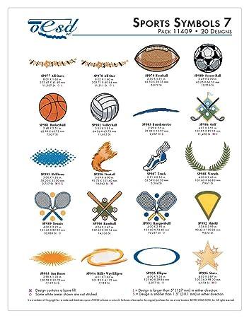 Oesd Machine Embroidery Designs Sports Symbols 7 Collectionmulti