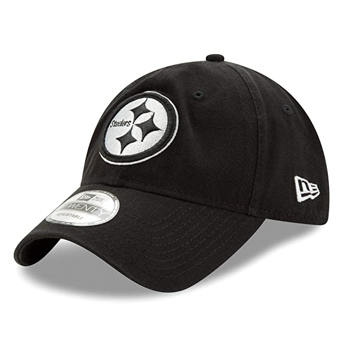 Amazon.com  New Era Pittsburgh Steelers NFL Core Classic Black Relaxed Fit  9TWENTY Cap  00ec29edd