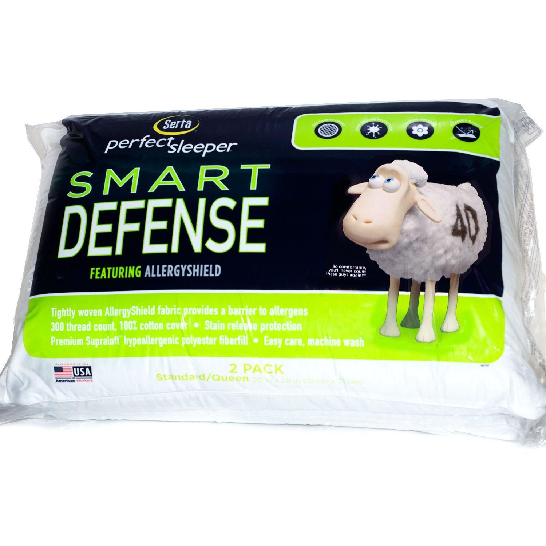 Amazon Serta Standard Queen Bed Pillow 2 pack Smart Defense