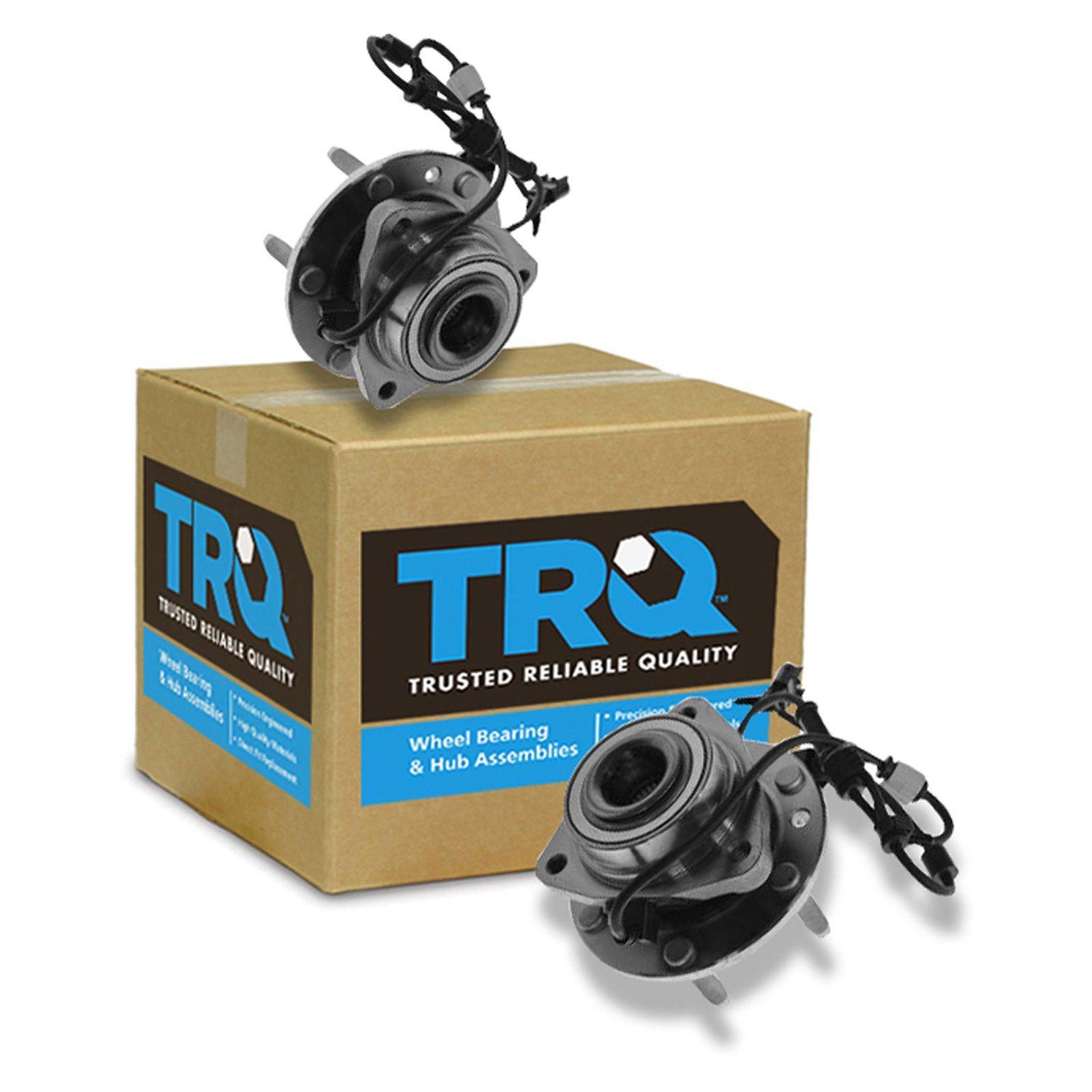 TRQ Front Wheel Hub & Bearing Pair Set for Trailblazer Envoy w/ABS 6 Lug