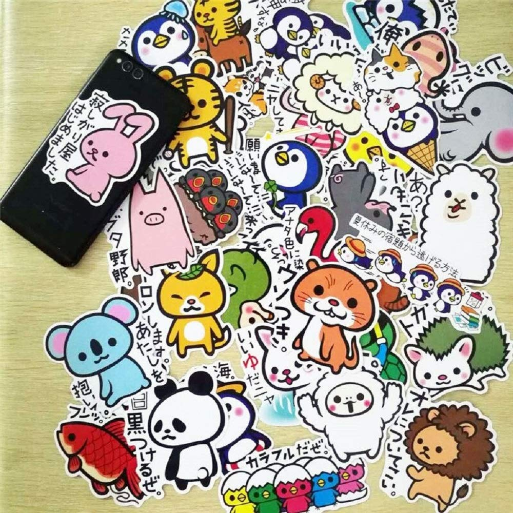 36Pcs/Set Kids Luggage Stickers Set Cute Cartoon Animals Suitcase Stickers Toys PVC Waterproof Decal Fridge Laptop Room Decorate