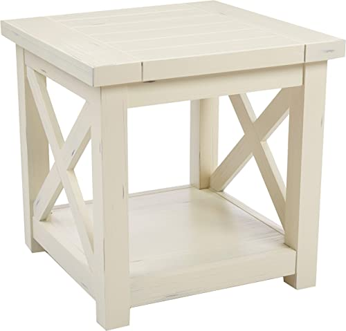 Seaside Lodge White End Table