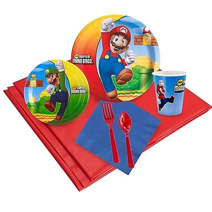 Amazon.com: Super Mario Bros. Pack para fiestas (24: Toys ...