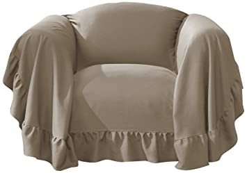 United Curtain Westwood Furniture Throw, 70 By 90 Inch, Taupe