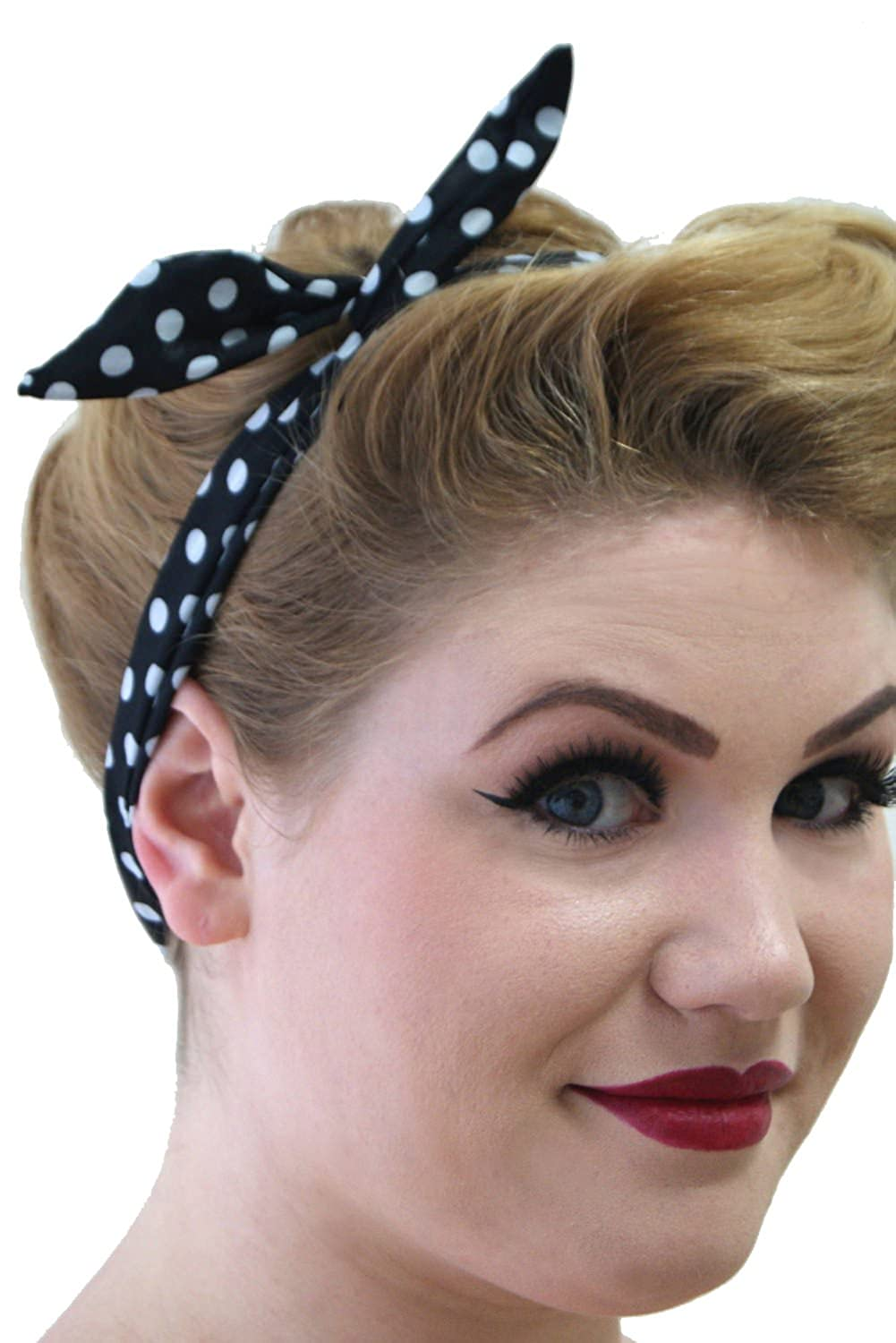 1940s Hairstyles- History of Women's Hairstyles Banned Tiffany Womens Vintage Retro Rockabilly Headband £4.99 AT vintagedancer.com