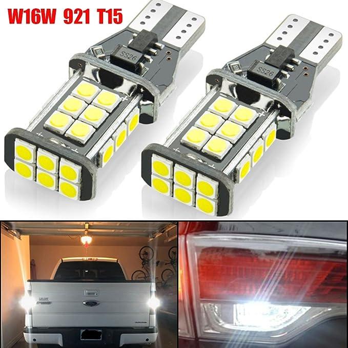 11 opinioni per 2-Pack 921 912 W16W T15 Luminoso 1550 Lumen 9V-30V Non Polarizzato Canbus Error