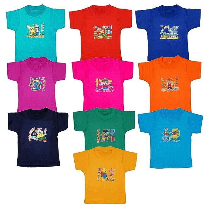 5698bc266f2b tirupur fashion biz Boy s Cotton Half Sleeve Printed Tops (Multicolour
