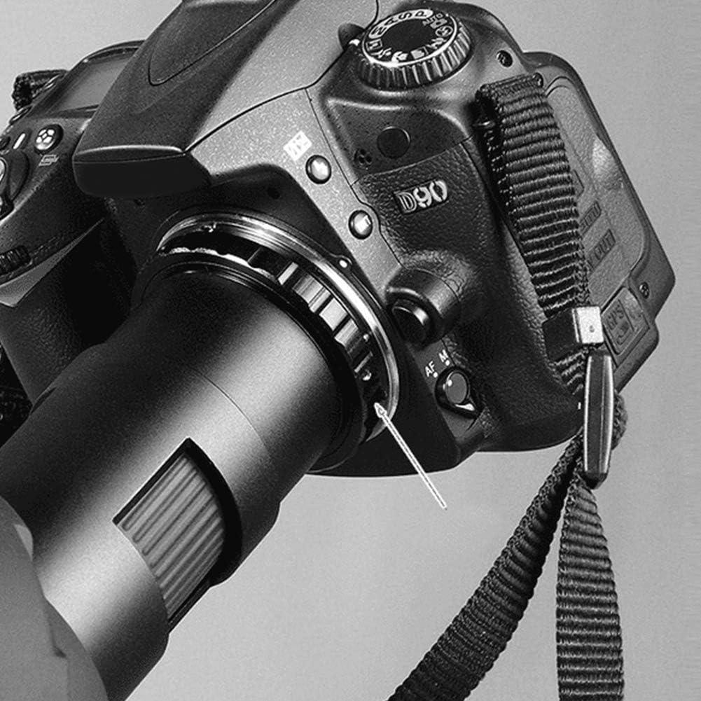 Bague dadaptation dobjectif Bague dadaptation M48 0.75 NBLentille Oculaire T/élescope pour Nikon AI Canon EOS Camera for Canon EOS