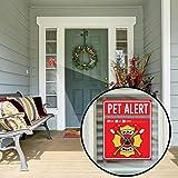 """Pet Alert Fire Rescue Sticker - (4) 5"""" x 4"""" Window"""