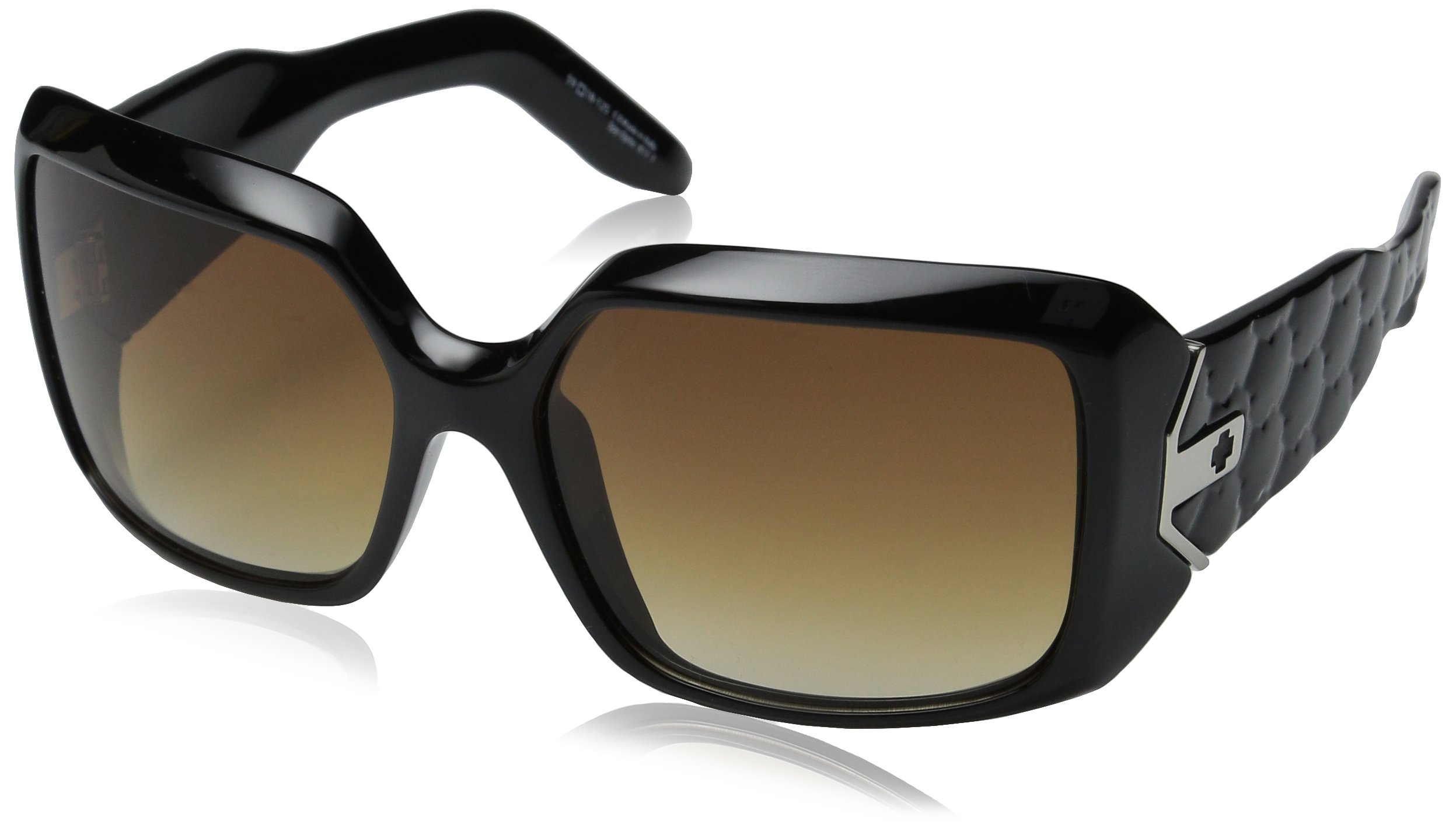 Spy Optic Women's Eliza Fade Sunglasses,Shiny Black Frame/Bronze Fade Lens,one size