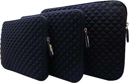AZ-Cover 11-Inch Bag Simplicity /& Stylish Diamond Foam Shock-Resistant Neoprene Sleeve For ASUS EeeBook X205TA-US01-BL 11.6-inch Notebook PC Laptop Hot Pink
