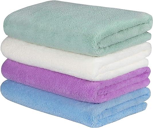 Yoofoss Handhanddoeken Voor Badkamer Keuken Flanellen Als Baby Badhanddoeken Douche Handdoeken 50x100cm 4 Packs Zeer Absorberende En Zachte Handdoeken Set Amazon Nl