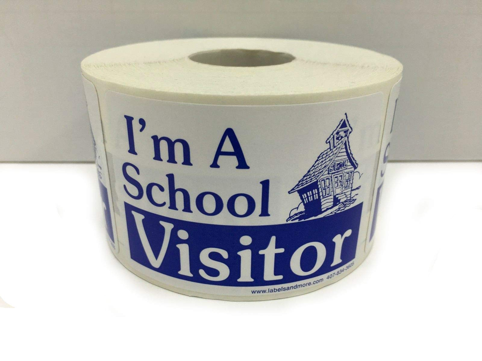 I'm A School Visitor Name Badge Identification Stickers / 500 Labels - Blue 2x3 by ESG Warehouse