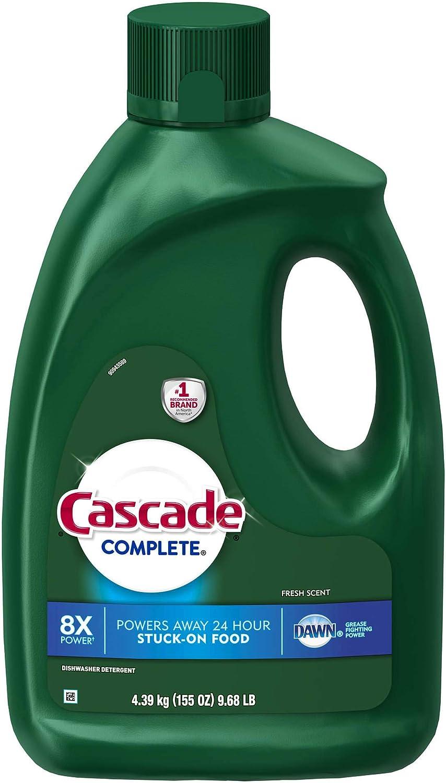 Cascade Complete Gel Dishwasher Detergent, Fresh Scent, 155 oz.ES