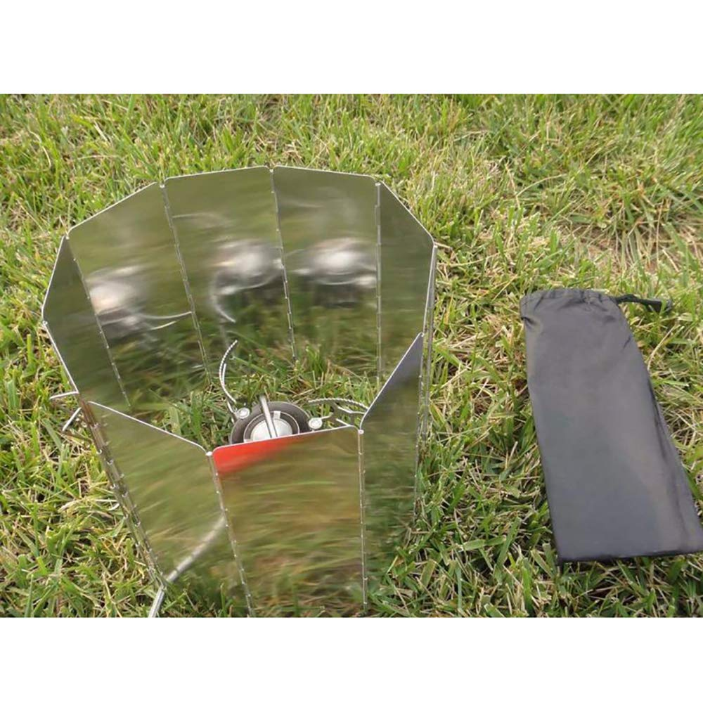 Zihuist Parabrisas Camping Escudo Pantalla de Viento Cortavientos al Aire Libre para Camping Stove Protector 10 Paquetes