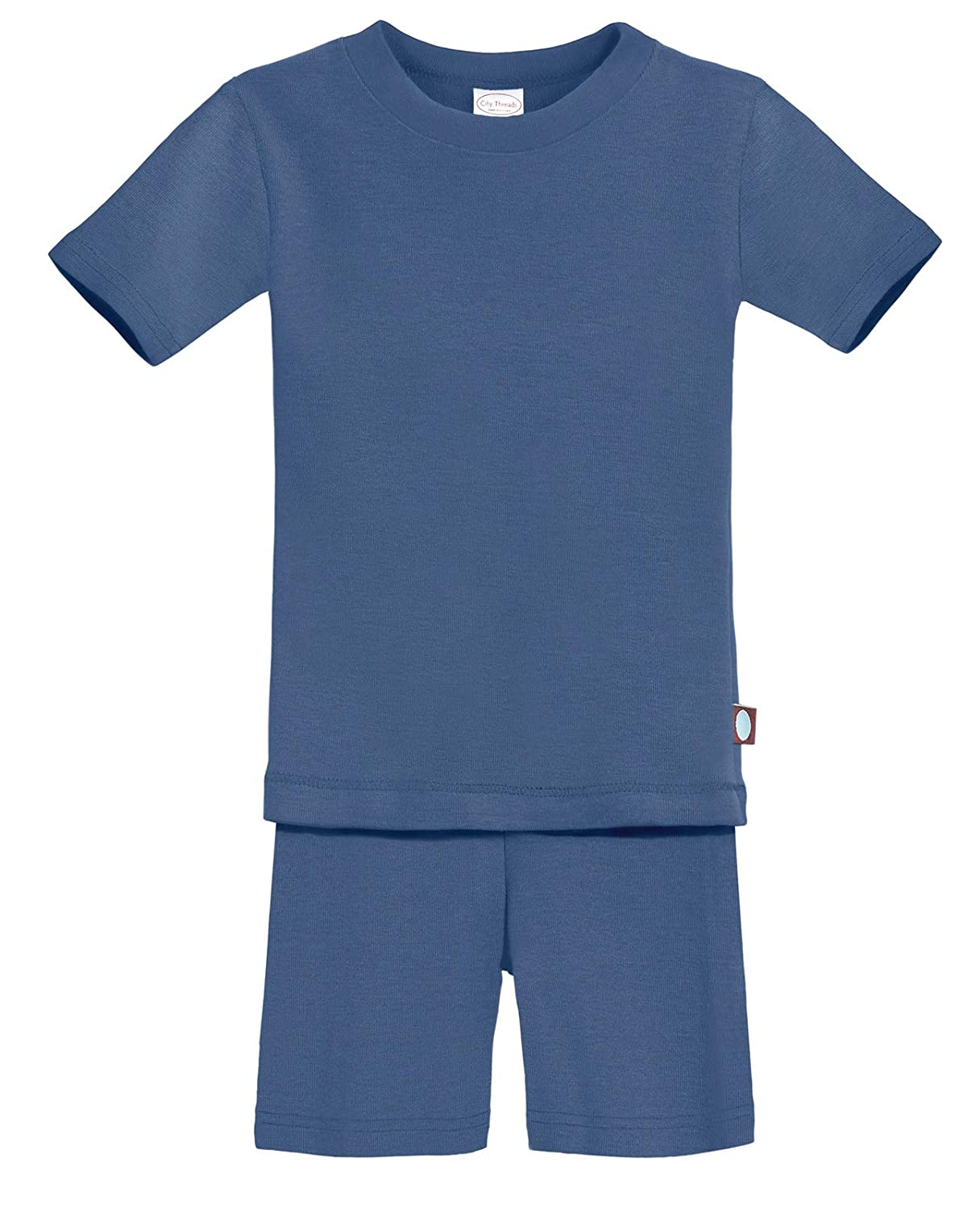 Made in USA City Threads Boys and Girls Short Sleeve and Short Snug PJs Organic Cotton