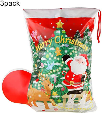 Giant Father MERRY CHRISTMAS GIFT Santa SacK Gifts//Presents RED BAG STOCKING