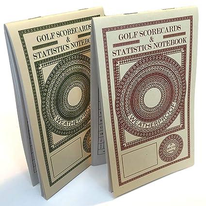 Amazon.com: Cuaderno de puntuación y estadísticas de golf ...