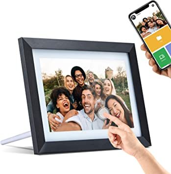WiFi Digital Picture Frame 10.1 Inch Touch Screen Digital Photo Frame Classic Unlimited Cloud Storage HD Smart Electronic Picture Frame Wireless Share Video Clips and Photos Instantly via E-Mail /&App