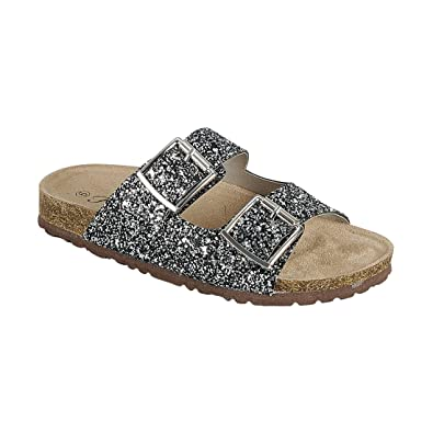 804dad7730 Forever FQ79 Women s Sparkle Glitter Slip On Casual Sandals