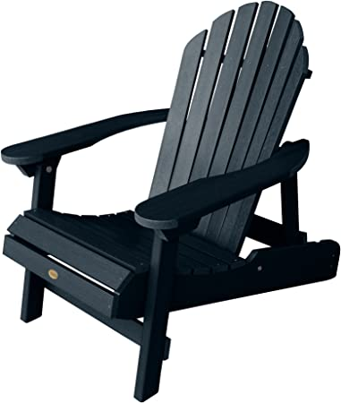 highwood Hamilton Folding and Reclining Adirondack Chair, Adult Size, Federal Blue