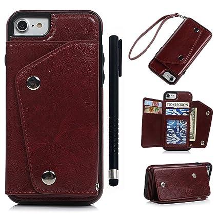 pretty nice 38f1a aaf3e Amazon.com: iPhone 8 Case, iPhone 7 Wallet Case, REACHOPE ...