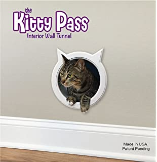 The Kitty Pass Wall Entry Cat Door, Cat Door Tunnel, Cat Wall Door Pet