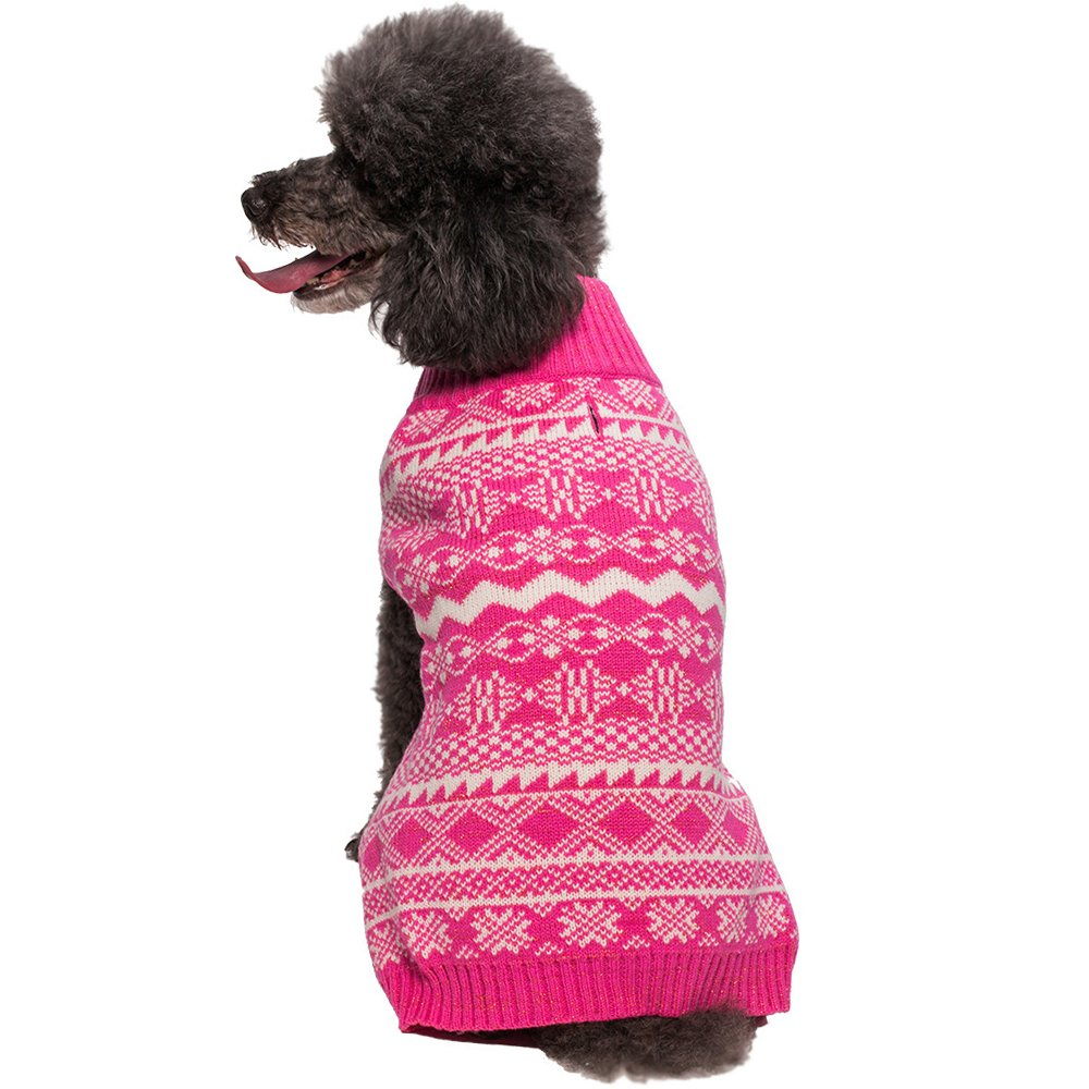 Blueberry Pet Fair Isle or Icelandic Lopi Pullover Dog Sweater Back Length 14 Pack of 1 Clothes Dogs