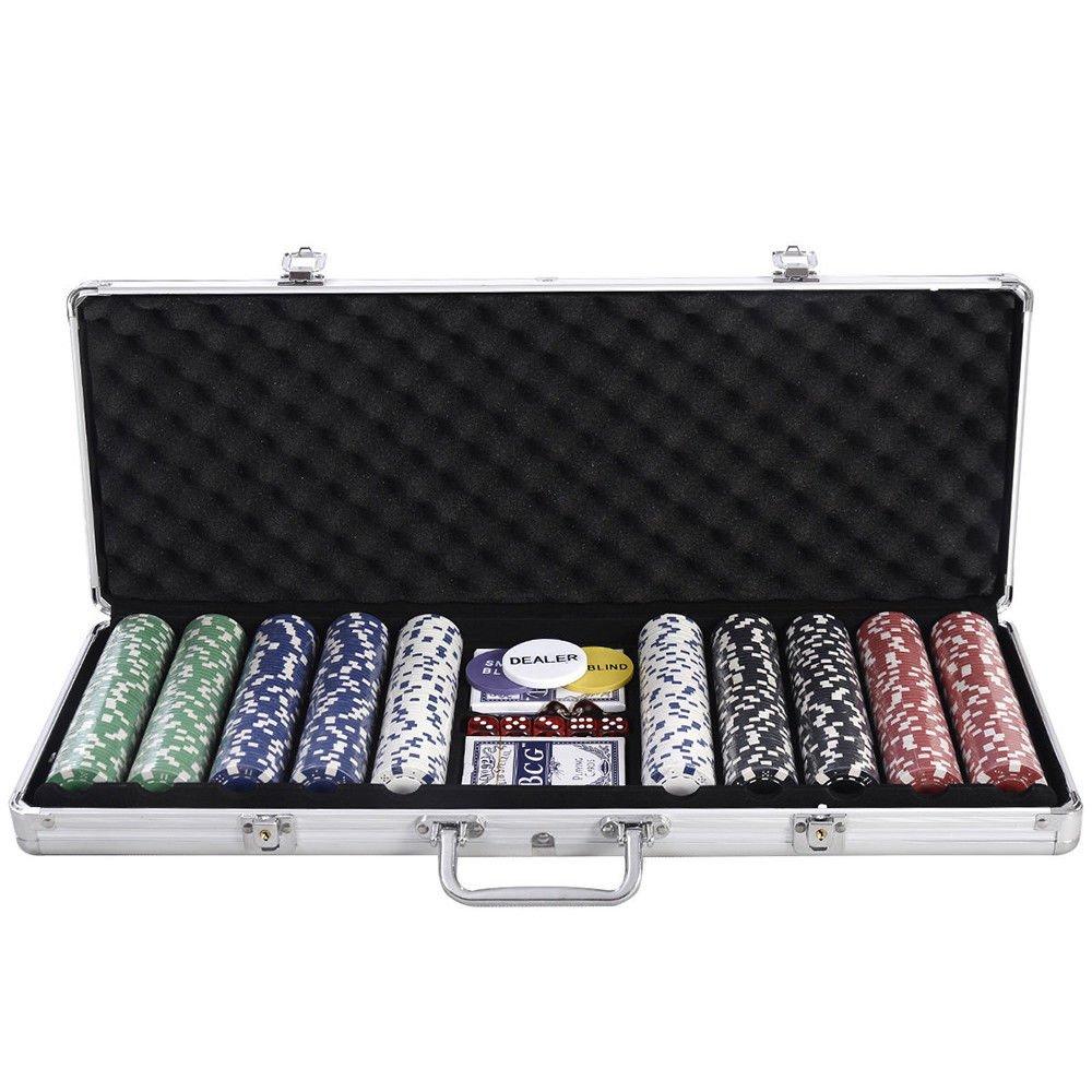 SD Poker 500 pcsポーカーチップセットアルミニウムCarryケースカード B079HZVBNL、テキサス、ゲーム – Casino Holdem Casino Poker B079HZVBNL, ASH-LIFE:a663d38f --- 2017.goldenesbrett.net
