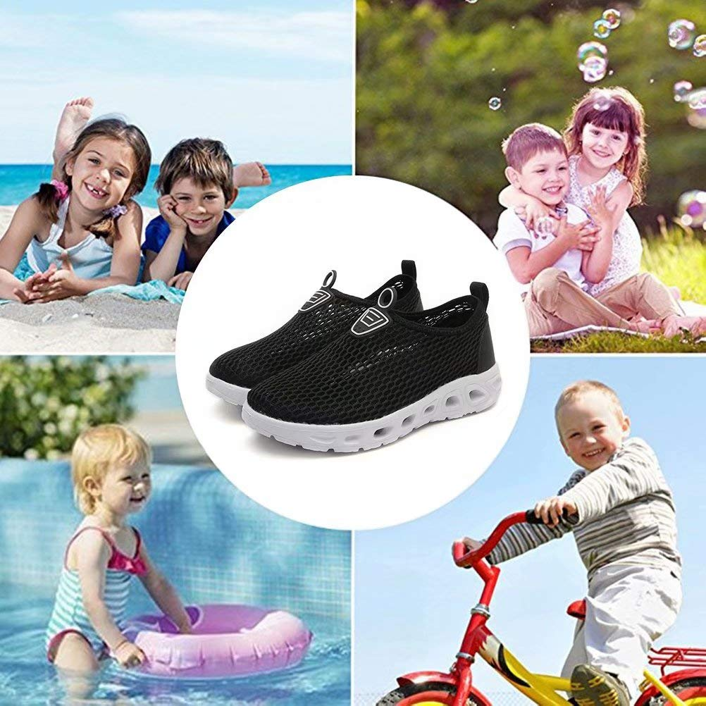 LINGMAO Kids Quick Dry Water Shoes Slip-on Sneakers for Beach Camp DD5045 Toddler//Little Kid//Big Kid