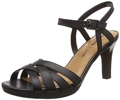 1e2c3d7a25e7 Clarks Women s Adriel Wavy Ankle Strap Heels  Amazon.co.uk  Shoes   Bags