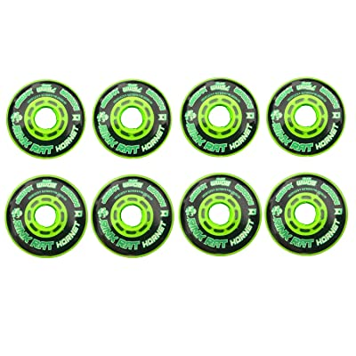 Rink Rat Wheels 80mm 76mm Hilo 78A Hornet XX Blk/Grn Inline Indoor Roller Hockey: Toys & Games