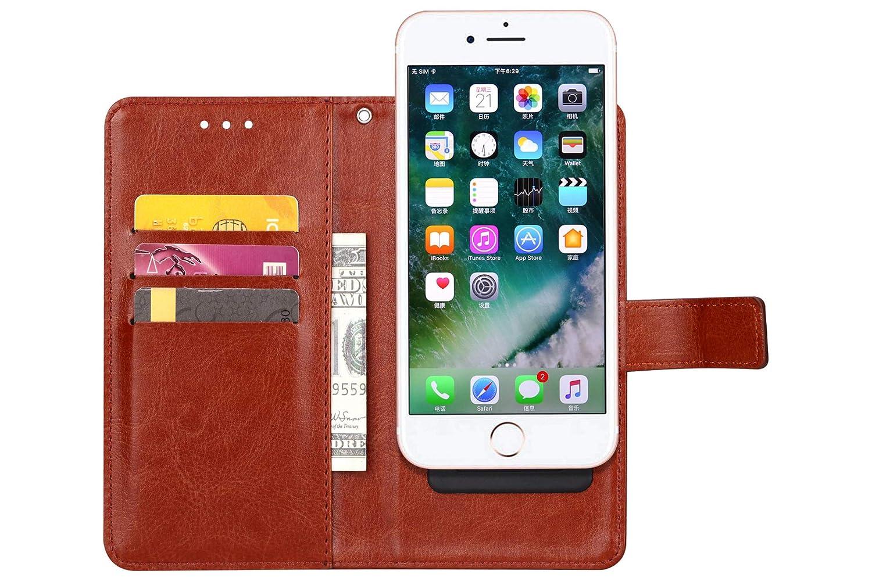 Amazon.com: Funda de piel sintética con tapa para iPhone XS ...