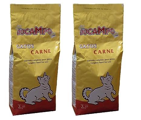 DOCAMPO Pack 2 Sacos de pienso (2 Kg/U) Comida para Gatos Sabor
