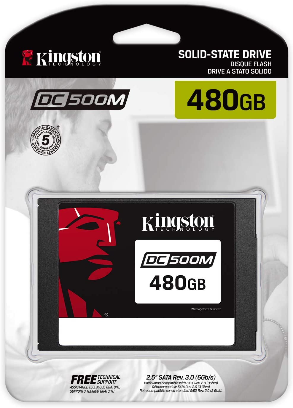 Kingston Data Centre DC500M (SEDC500M/480G) Enterprise SSD interne ...