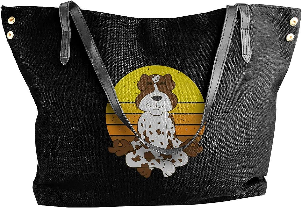 German Shorthair Pointer Yoga Womens Tote Bags Canvas Shoulder Bag Casual Handbags
