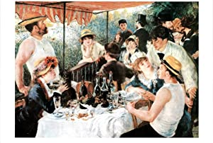 Pierre Auguste Renoir Luncheon of The Boating Party Cool Wall Decor Art Print Poster 36x24