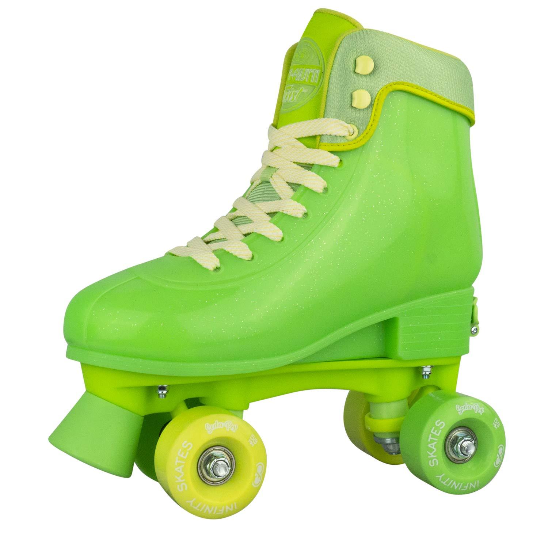 Infinity Skates Soda Pop Adjustable Roller Skates for Girls and Boys | Lime Green Medium