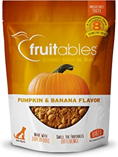 product image for Fruitables Dog Treats | Dog Training Treats | Low Calorie Crunchy Dog Treats | Pumpkin & Banana