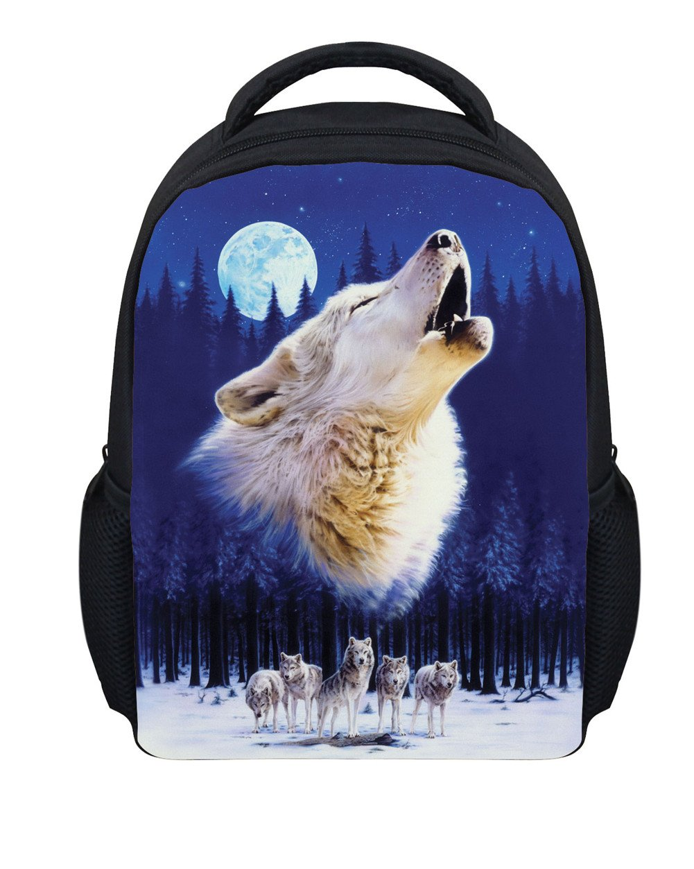 Toddler Boys Backpack for Preschool Book Bag Wolf Cool Travel Bags