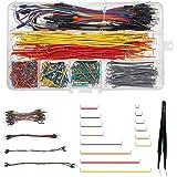 WayinTop Jumper Wire Kit, Preformed Breadboard Jumper Wire 14 Lengths Assorted + Solderless Flexible Breadboard Jumper Wires