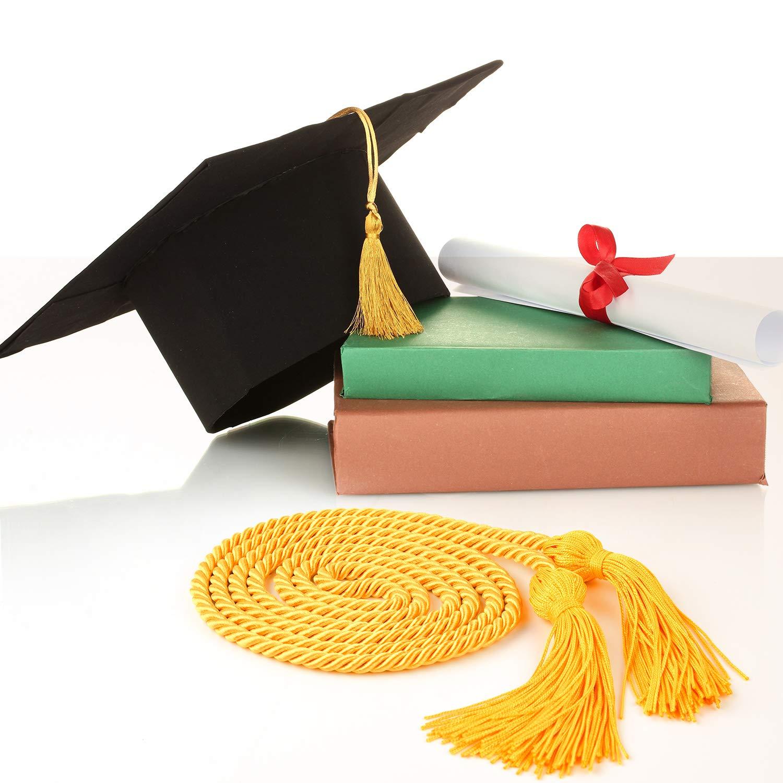 TUPARKA 2 PCS Gold Graduation Honor Cords Tassels Cord Polyester Cords for Graduation Students Bachelors Uniform