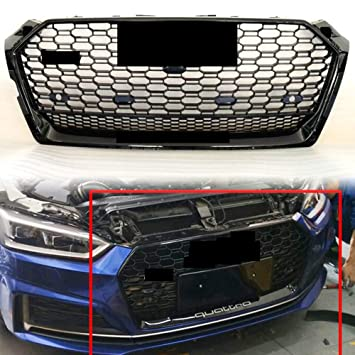 Front Grille Honeycomb Mesh Black Upper Grill For Audi A5 S5 Rs5