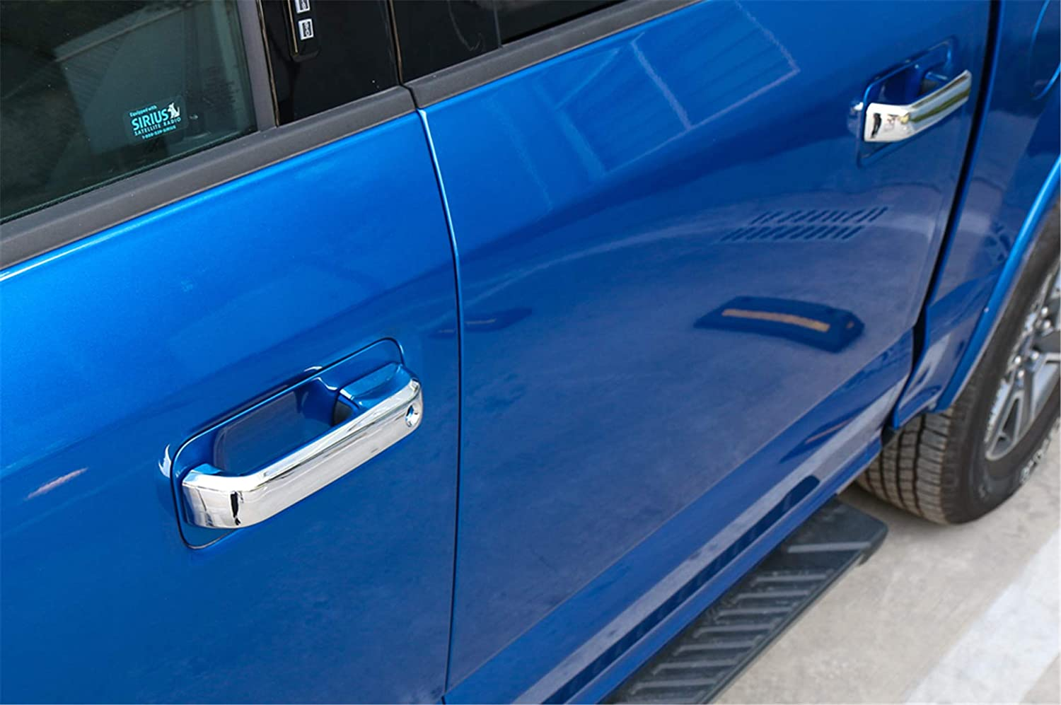 ABS Styling Anti Scratch Protection Decoration Frame Cover Trim Cap for Ford F150 2015 2016 2017 2018 Door Handle Cover, Chrome